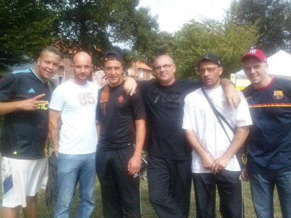 avec mes boxeurs tournoi de foot a dorignies hommage a samir benzitouni 15/08/2013