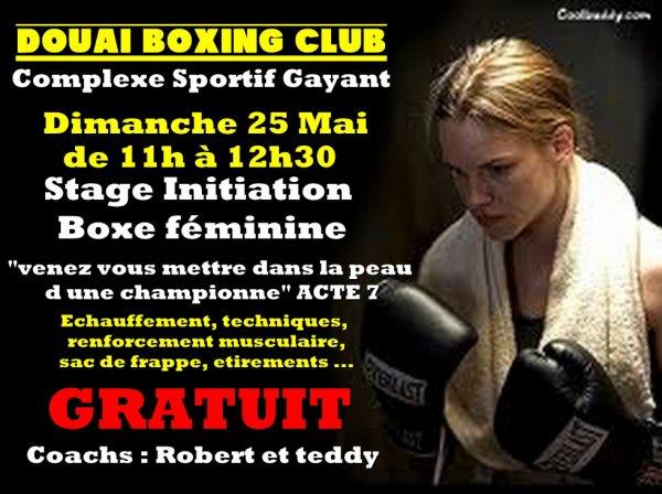 stage de boxe féminine le dimanche 25 mai