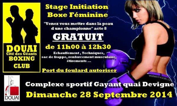 """stage boxe feminine a douai 28 sept 2014 acte 8""""venez vous mettre dans la peau d une championne"""