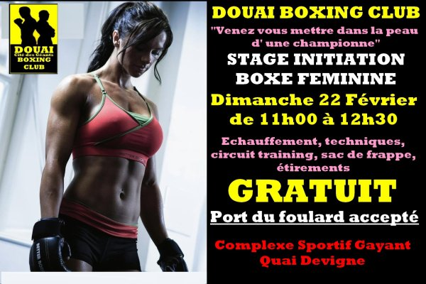 stage  initiation boxe feminine gratuit