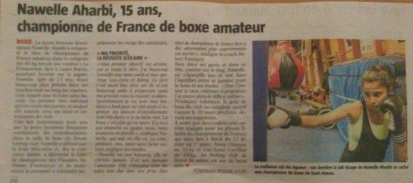 nawelle championne de France cadette amateur