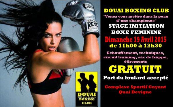 """stage boxe feminine a douai 19 avril""""venez vous mettre dans la peau d une championne"""""""