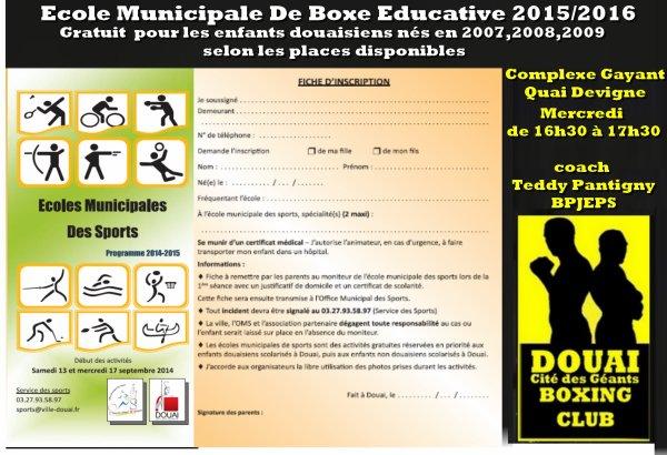 infos saison 2015/2016