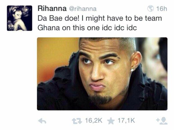 Rihanna tweet pendant le match du Portugal !