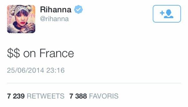 Quand Rihanna et Benzema s'échangent des mots doux...