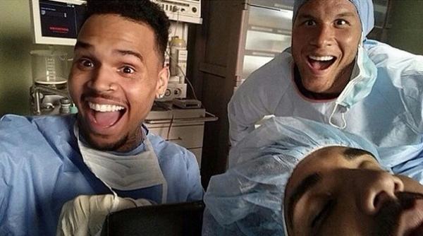 Drake, le basketteur Blake Griffin et Chris Brown: un trio explosif !