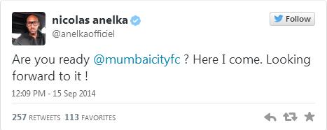 Anelka signe en Inde !