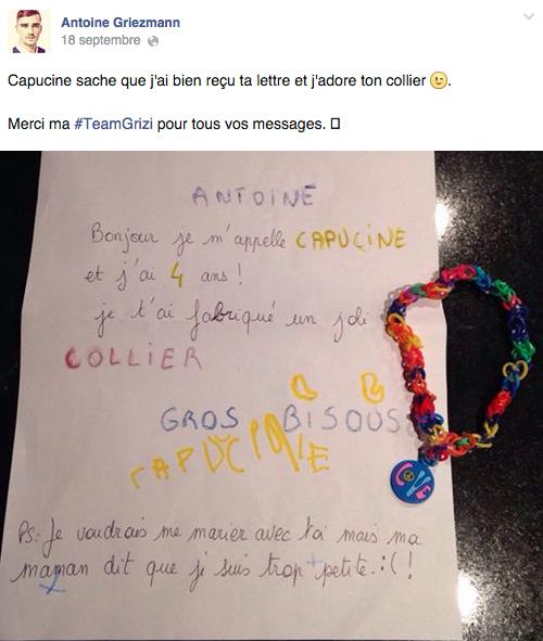Quand Antoine Griezmann répond à une fan !