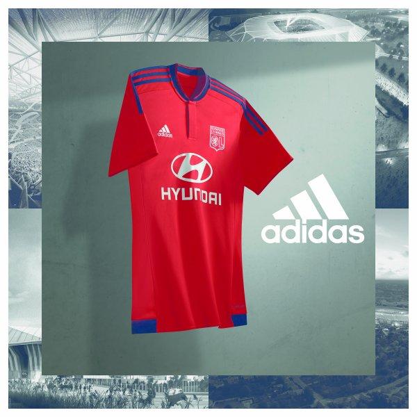 Les nouveaux maillots de L'Olympique Lyonnais