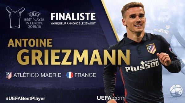 Antoine Griezmann dans les 3 meilleurs joueurs d'Europe !