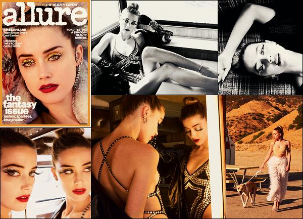 ●● Amber Heard est en couverture du magazine Allure, issue de Décembre 2017.