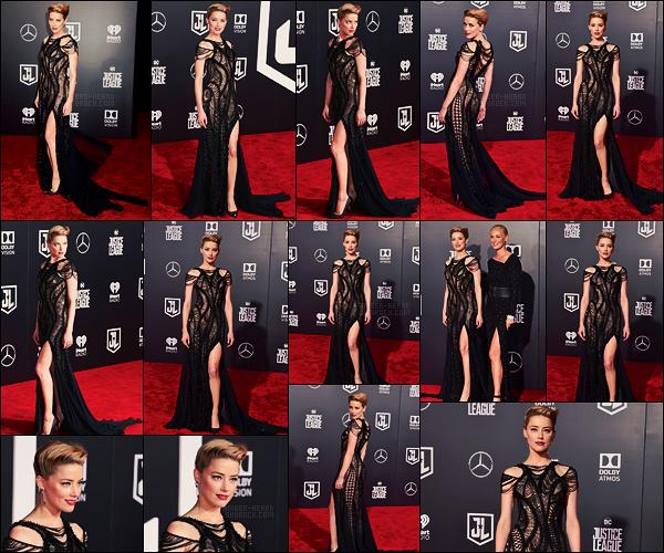 13/11/17 - Amber Heard s'est rendue à l'avant première du film Justice League à Los Angeles, - CALIF. Amber portait une sublime robe noire ajourée signée par Versace, elle était totalement subjuguante ! Et vous, qu'en pensez-vous ?