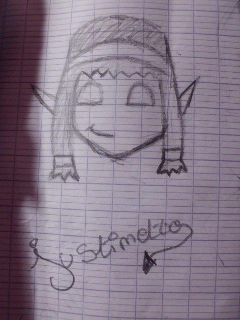 Justinette se met Au dessin ...