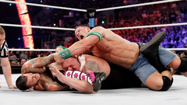 SUMMERSLAM : CM Punk vs John Cena vs Big Show , match triple menace pour le titre de champion de la wwe