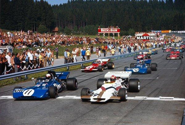 GP d'Autriche 71, Joe Siffert en pôle avec la BRM...