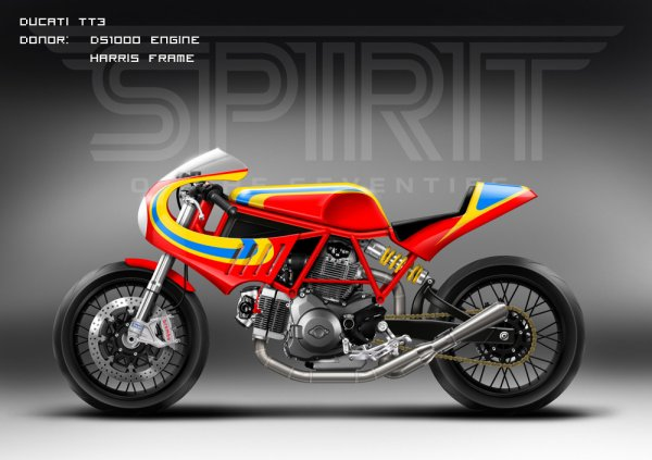 Ducati sport tracker and TT3, by Spirit of the 70's