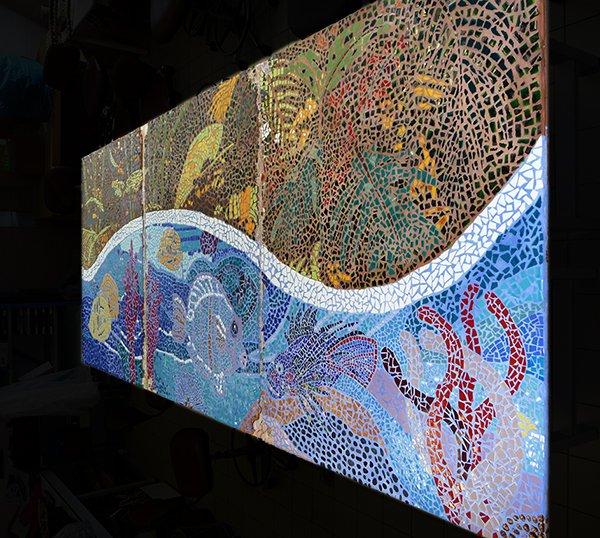 C'est parti pour la fresque du Taaone en art-thérapie!