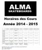 Planning des Cours de Skate sur Castres, Réalmont, Mazamet, Dicosa, et Toulouse.