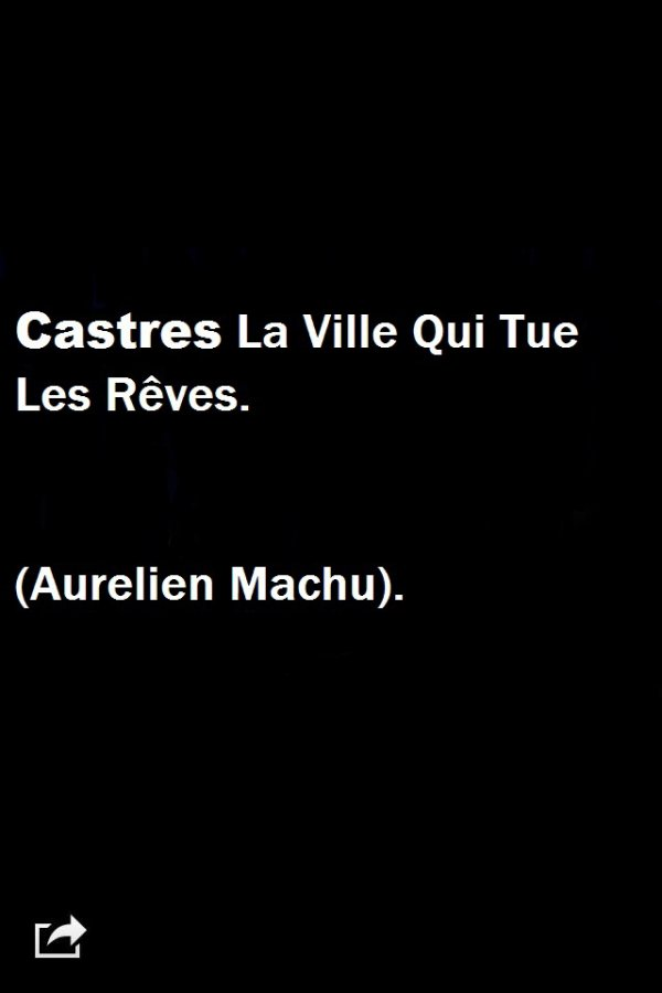 Citation sur la ville de Castres.