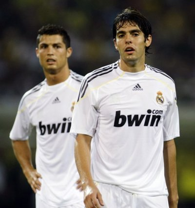 les star de real madrid  kaka ronaldo