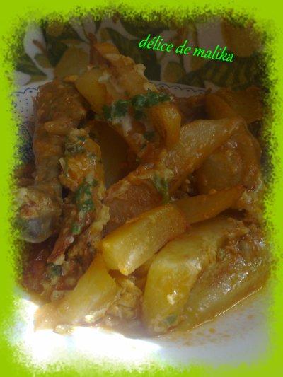 lokbabe plat algérien patate poulet miamiam