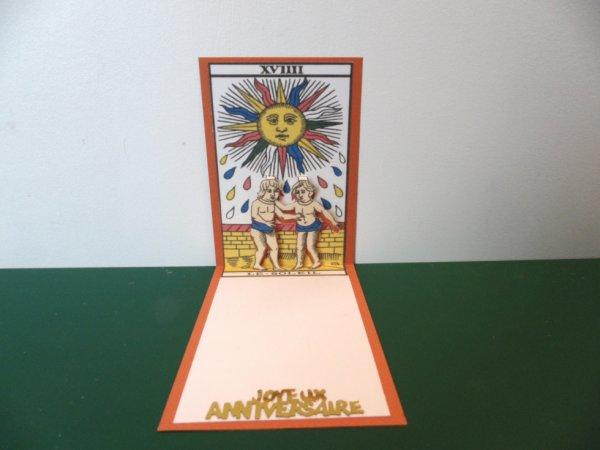 kirigami carte de tarot soleil