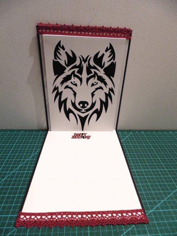 kirigami loup