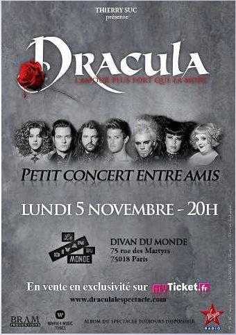 Dracula le 5 novembre- Petit concert entre amis