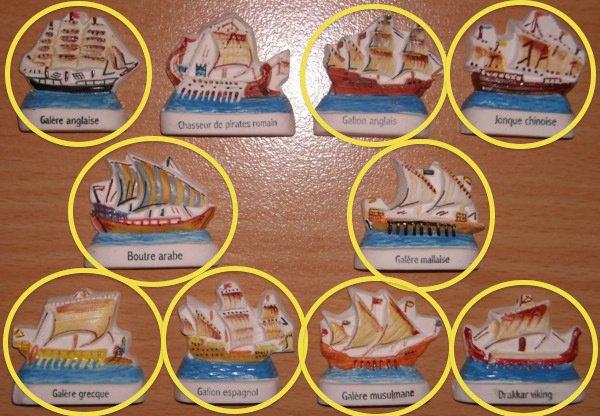 les navires des pirates