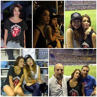 21/11/12 - Lali, Cande et sa famille sont allés au match de tennis (Argentine VS Brésil)