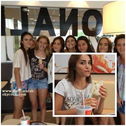 13/02/13 - Lali a été apperçus au McDonald's