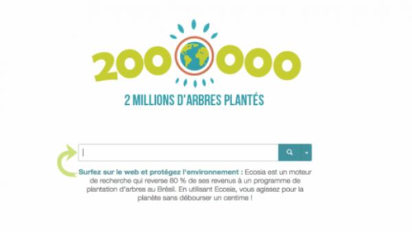 Utiliser le moteur de recherche Ecosia , et vous contribuez a planter des arbres ....