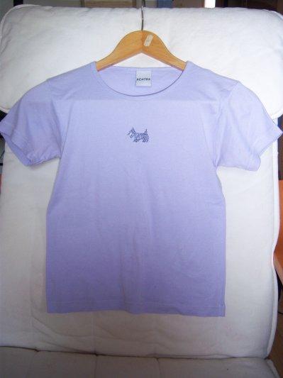 """T-shirt mauve """"Agatha"""" T40"""