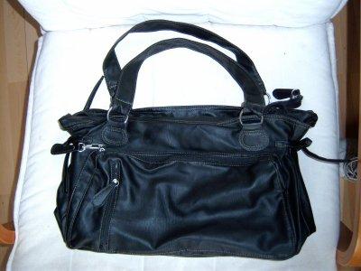 sac à main noir besace