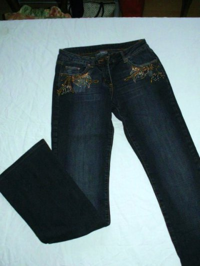 Jeans à strass T36
