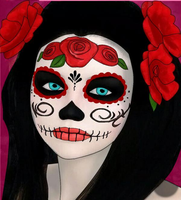 Dessin Fasont Manga Masque Mexicain Haloween Blog De Ta