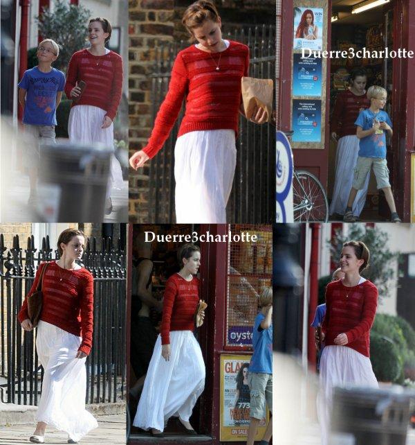 Hier le 2 septembre 2011  Emma A été apperçut à Londre