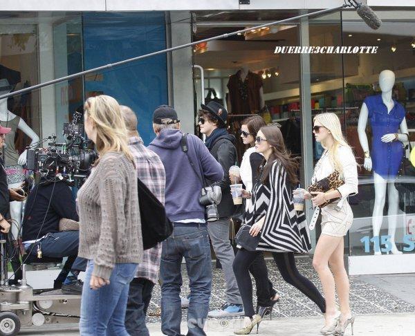 11 Avril  au tournage, dans les rues de Kingston en Californie