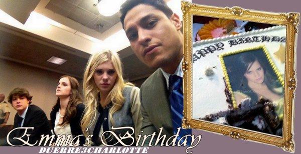 Photos du tournage le 12 aVRIL +le gâteau anniversaire  d'Emma