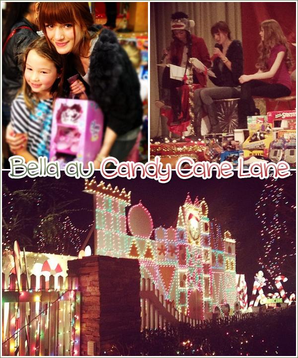 Bella au Candy Cane Lane le 23 décembre.