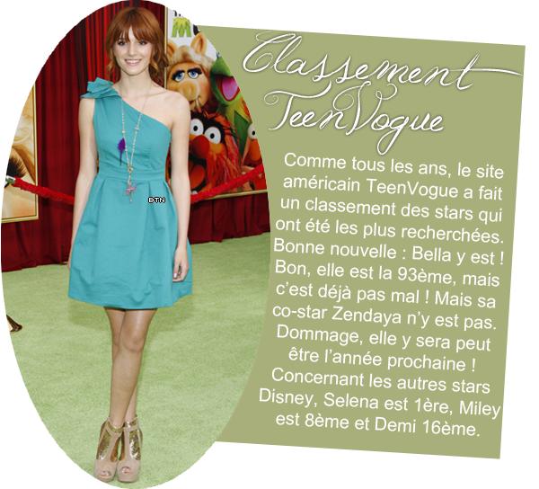 26/12/2011                  Rumeurs + classement TeenVogue + photo Twitter + vidéo