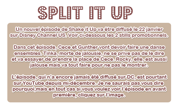 Split it Up + tournage d'un new épisode de SIU