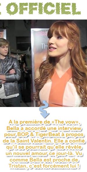 Bella/Tristan : le 14 février + vidéos