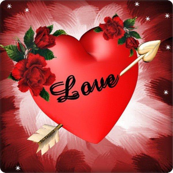 coeur rouge love avec la fleche de cupidon blog de michelpicard772. Black Bedroom Furniture Sets. Home Design Ideas