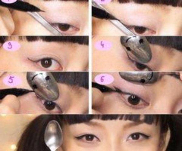 Techniques pour tracer son trait d 39 eyes liner ton blog source de diy de beaut pour elles - Comment faire un trait d eye liner ...