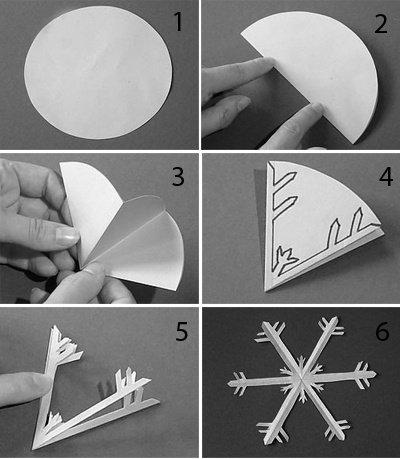 tuto origami flocon de neige