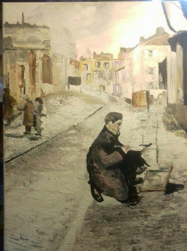 """toiles 50x 60"""" peintre à Montmartre"""