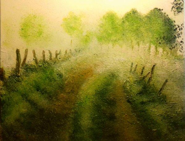 paysage de campagne   40x 50