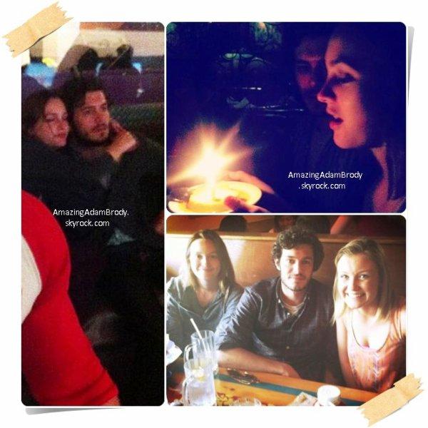 09 avril 2013, Leighton Meester fête ses 27 ans avec Adam!