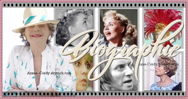 Biographie - Actrice de cinéma